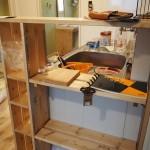 キッチンサイド棚